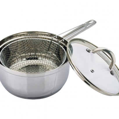 22cm Stainless Steel Chip Pan