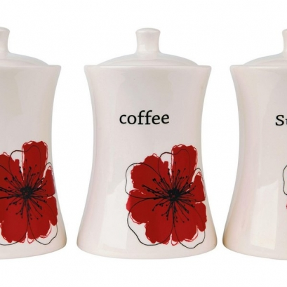 Poppy Ceramic Storage Jars