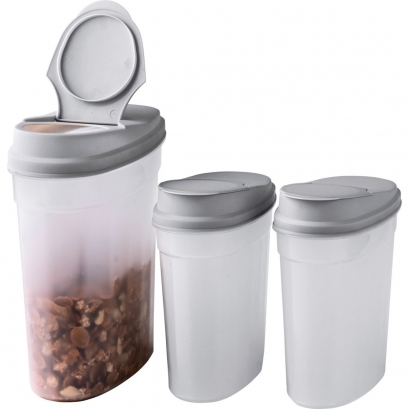 101 Plastic Cereal Containers - Pack of 3